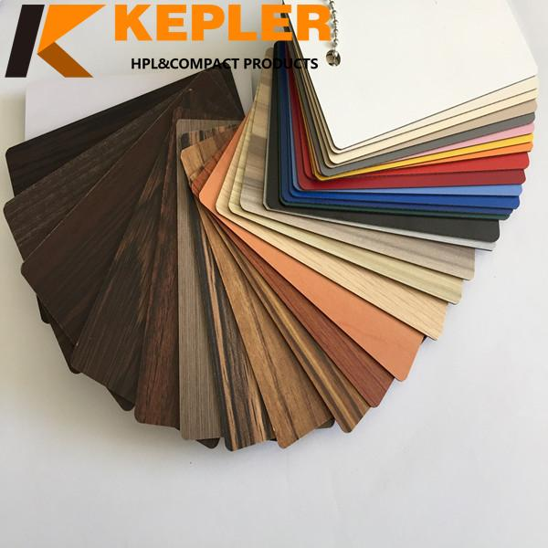 Decorative furniture 0.6mm 0.7mm wood grain HPL sheets /compact hpl boards