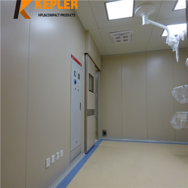 Kepler cheap price HPL decorative solid wood color wall covering panels for hospital