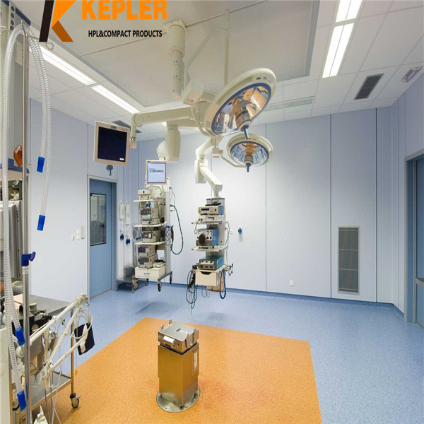 Kepler hospital anti-bacterial Interior phenolic resin hpl wall cladding panel