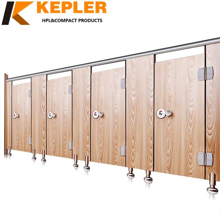 Kepler 12mm compact divided urinals HPL high pressure laminate toilet partition board