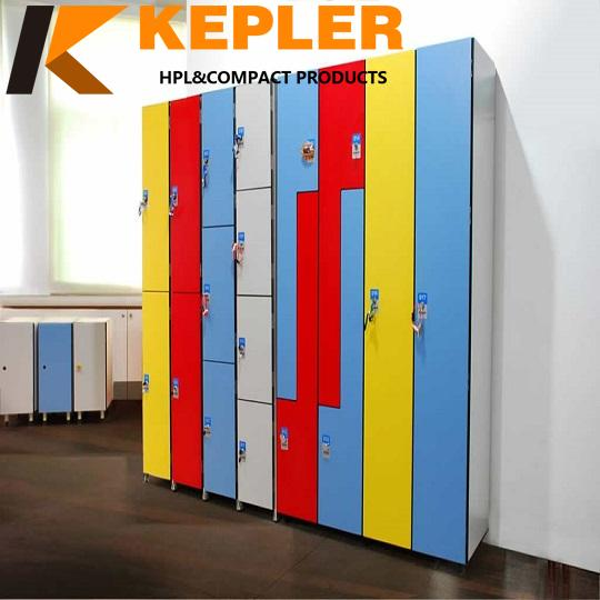 Kepler colorful storage lockers professional used gym compact laminate lockers for sale made in China