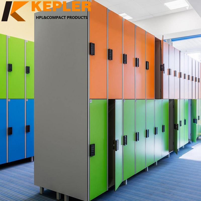 Kepler fireproof waterproof durable customized rich color hpl compact school student locker system for sale
