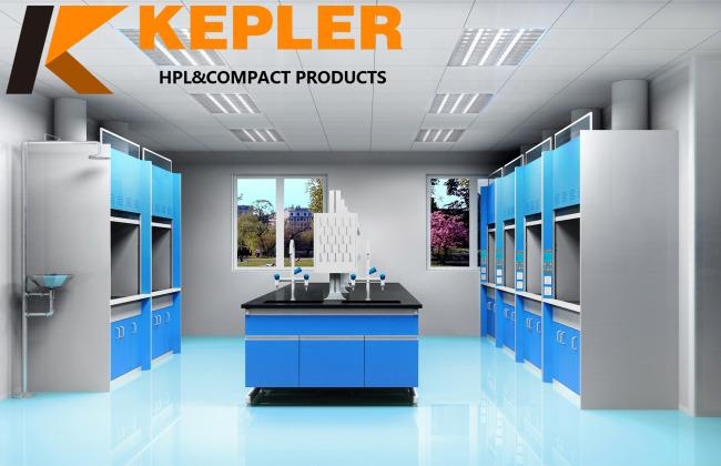Kepler 12.7mm thick chemical resistant hpl laboratory top Compact laminate phenolic board