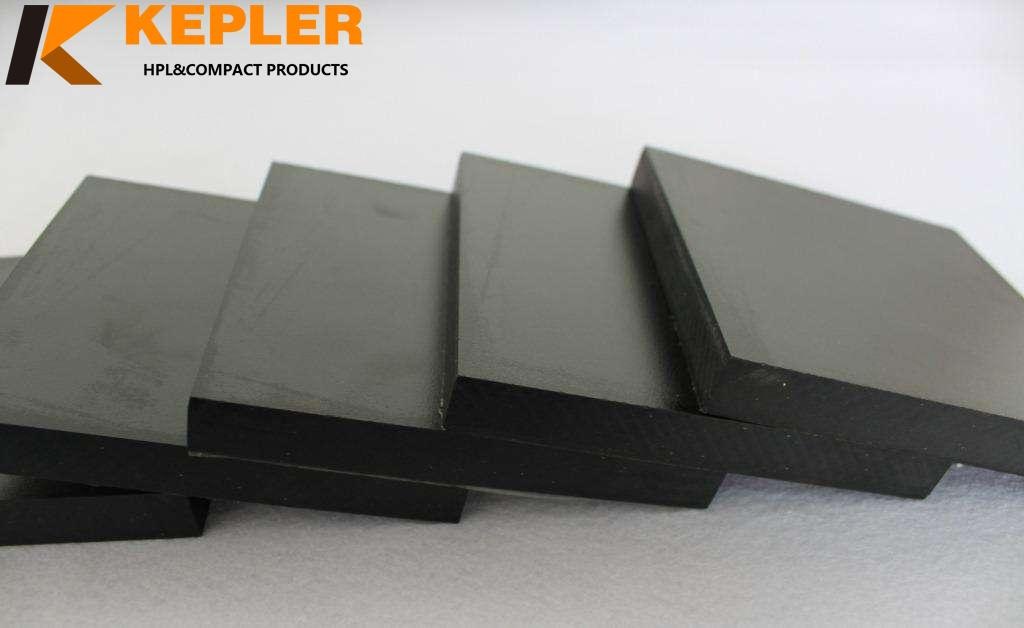 Kepler 12.7mm black core chemical and corrosion resistant phenolic compact hpl lamniate work table tops and bench panel