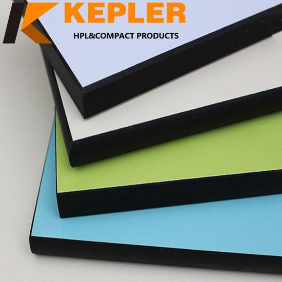 Kepler high quality rich colors phenolic resin compact laminate hpl board manufacturer in China