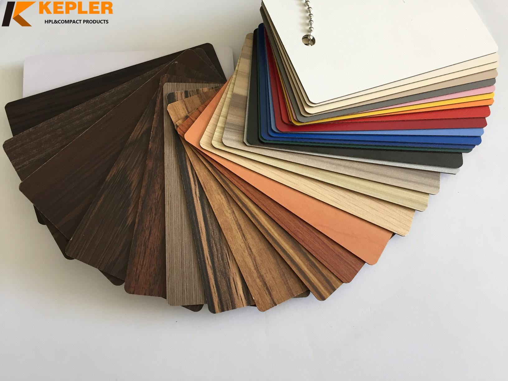 Kepler decorative waterproof durable 1.3mm thickness white color solid core hpl compact laminate panel manufacturer