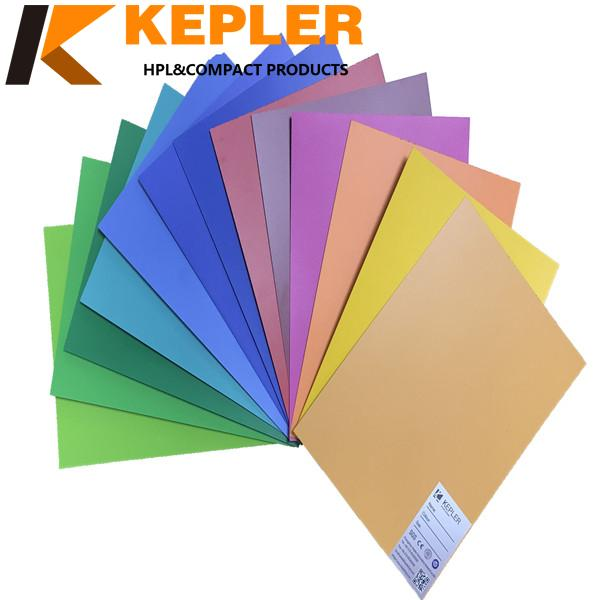 Kepler 0.8mm thickness same wood grain color high pressure formica laminate HPL sheets with high glossy and matt surface