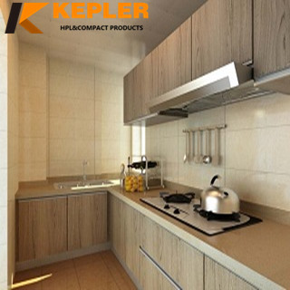 Kepler decorative special T10 textured surface 0.8mm high pressure laminate furniture hpl sheets with plastic protective film