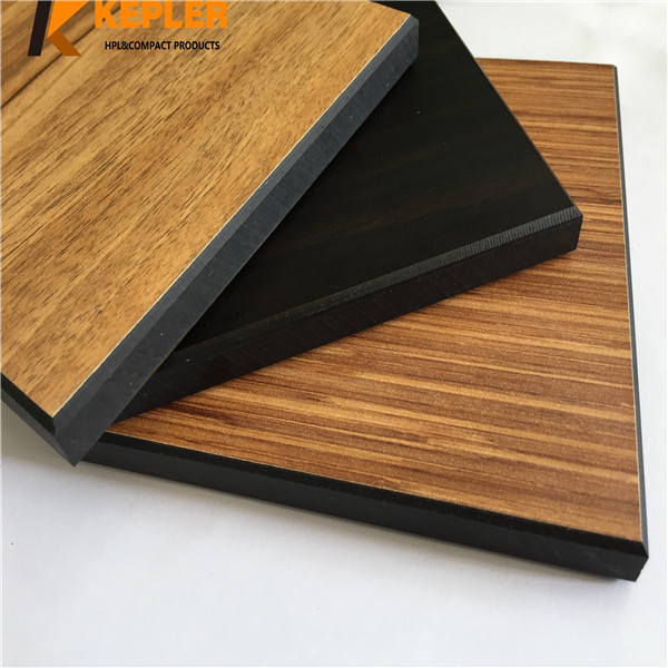 Kepler wood grain 6mm 8mm rich color widely used phenolic compact laminate wall cladding board hpl panel manufacturer in China