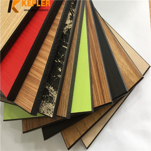 Kepler rich color decorative phenolic resin hpl compact laminate board manufacturer