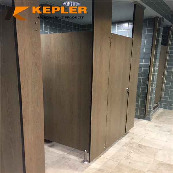 Kepler phenolic resin panel toilet cubicle high pressure laminate hpl woodgrain phenolic toilet partition board