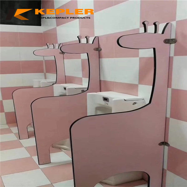 Kepler customized size environmental friendly kindergarten hpl urinal partition divider screen material