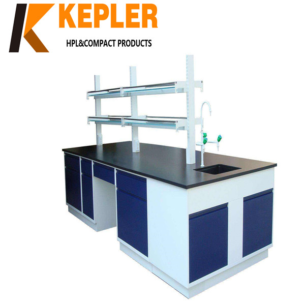 Kepler chemical resistant laboratory table top hpl phenolic compact laminates lab contertops furniture manufacturer