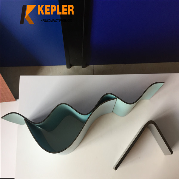 Kepler customize different shapes post forming compact laminate hpl board