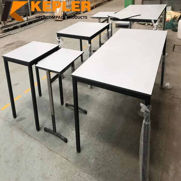 Kepler customize different size shape color compact hpl laminate table top board