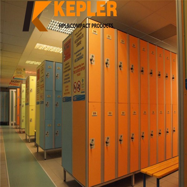 Kepler customize 12mm thickness waterproof solid color phenolic compact hpl locker