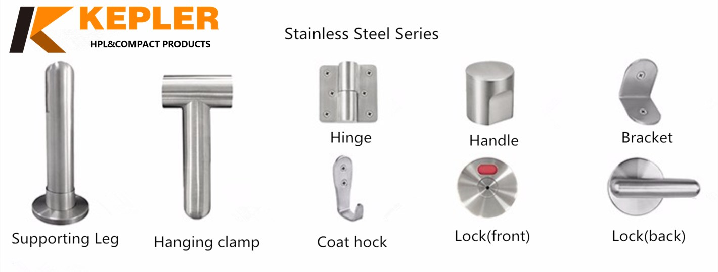 Stainless steel series toilet partition accessories