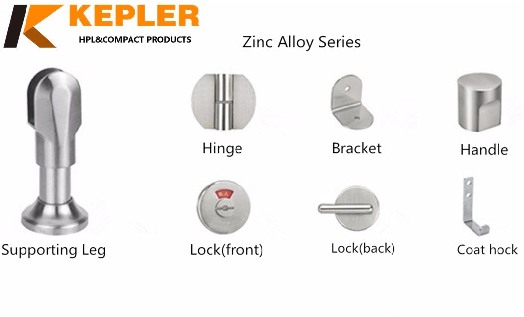 Zinc alloy series toilet partition accessories