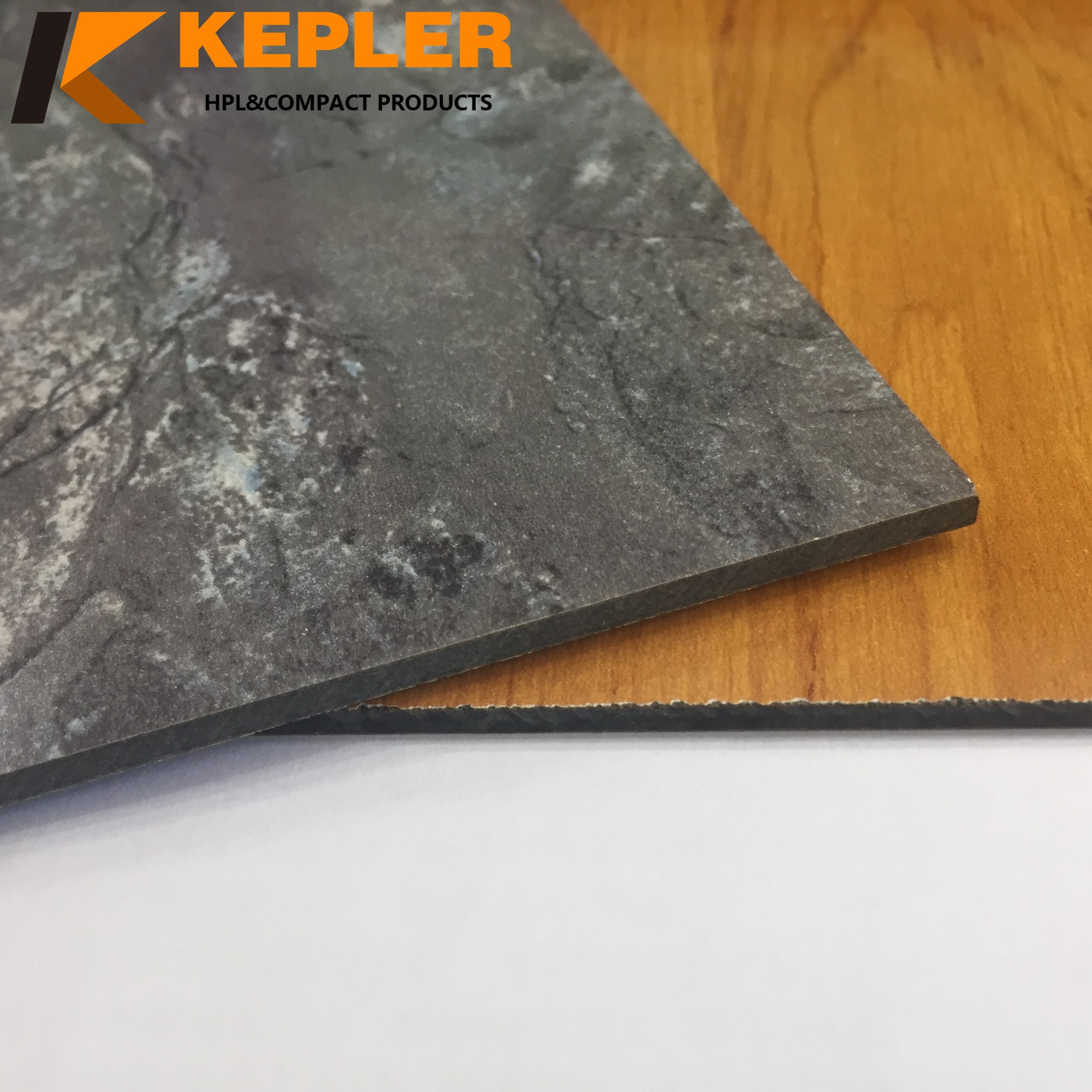 Kepler decorative waterproof fireproof heat resistant double finish 2 faces color hpl compact phenolic laminate board