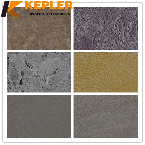 Kepler 6mm 8mm Thick Decorative Anti-UV Waterproof  Exterior Facade Compact Laminate HPL Panel