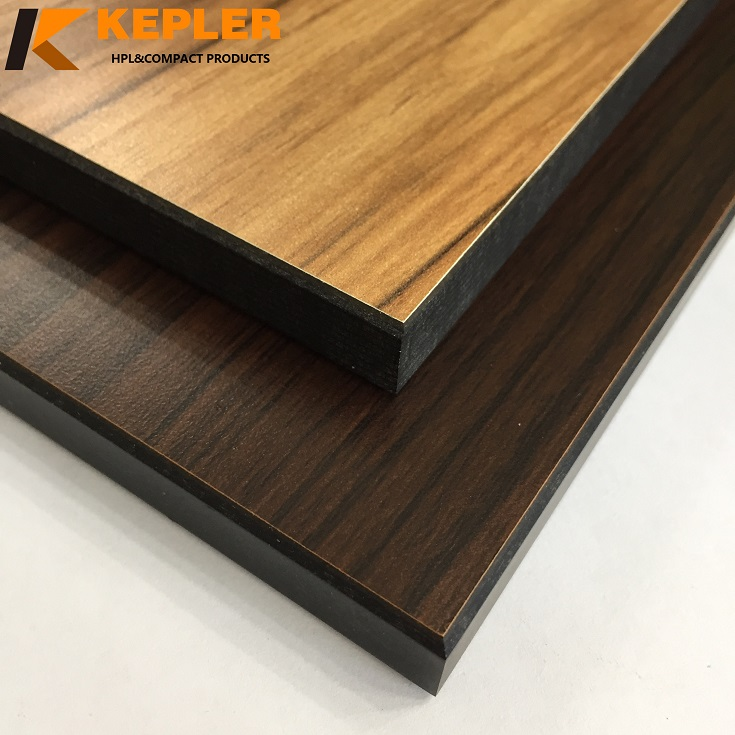 Kepler 6mm and 8mm thickness wood grain phenolic compact laminate wall cladding board manufacturer