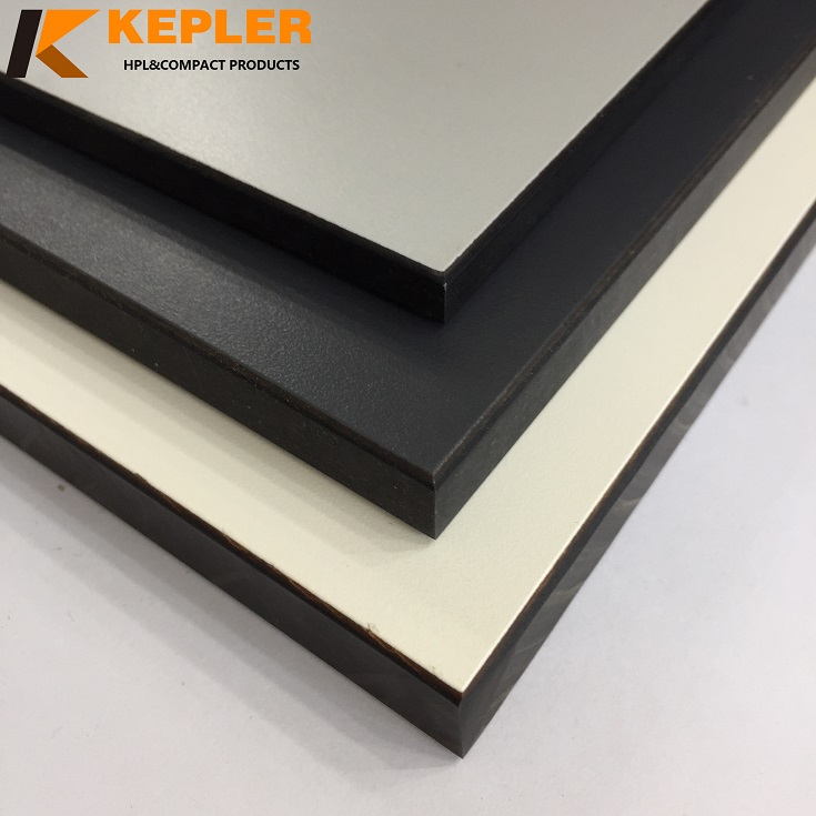 Kepler exterior rich colors waterproof anti-uv compact laminate HPL  table top board supplier in China