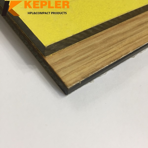 Kepler anti-UV waterproof decorative wood grain and solid color 6mm thickness exterior compact laminate hpl wall cladding panels
