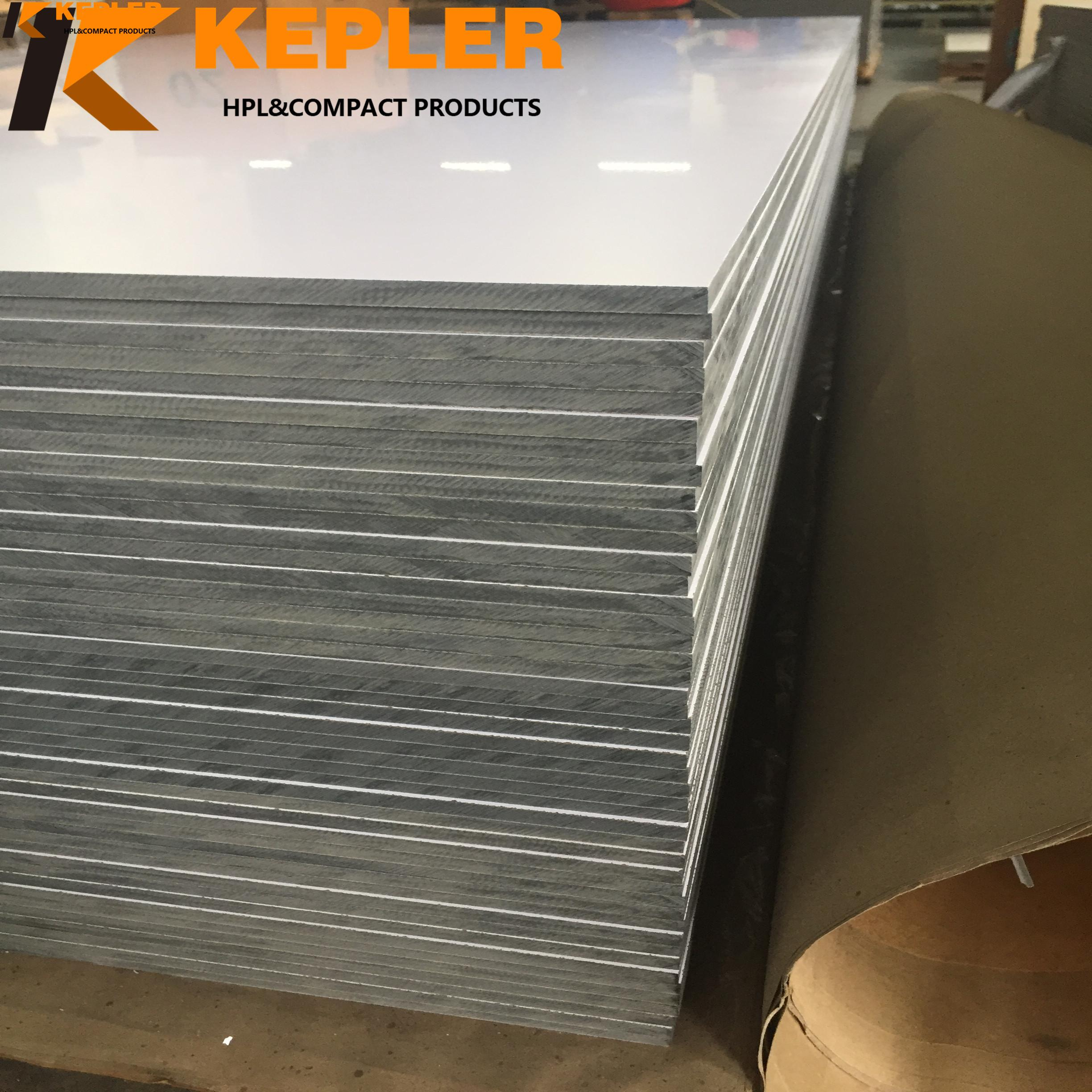 Kepler 12mm thick waterproof decorative high glossy compact laminate hpl board with low price