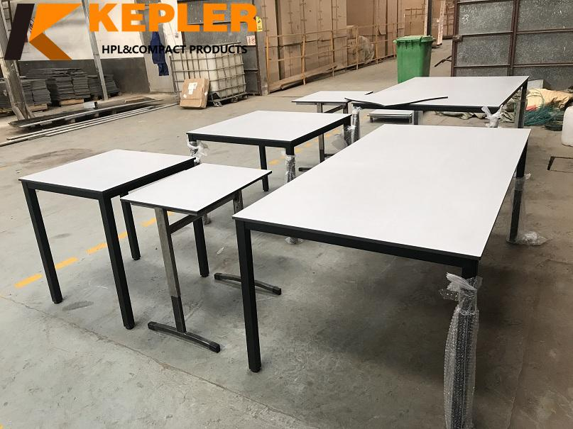 Kepler newest outdoor durable waterproof anti-UV compact hpl  table tops with cheap price