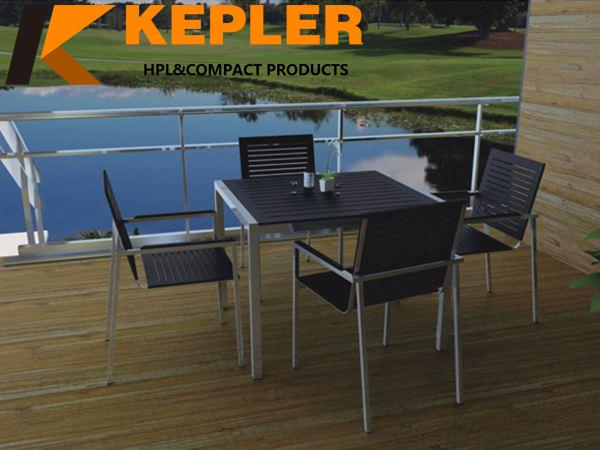China manufacturer compact laminate durable outdoor anti-UV waterproof hpl table tops