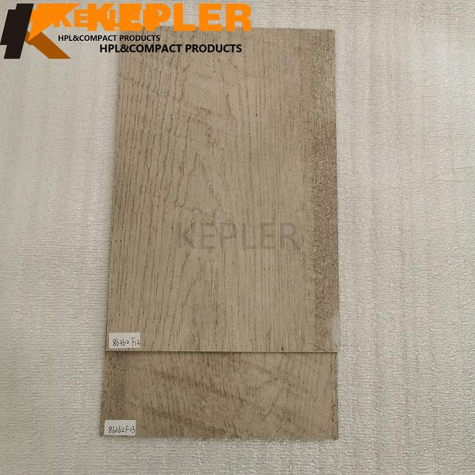 Kepler HPL High Pressure Laminate Fireproof Board Compact Laminate Sheet Wood Grain with Lichen Finish