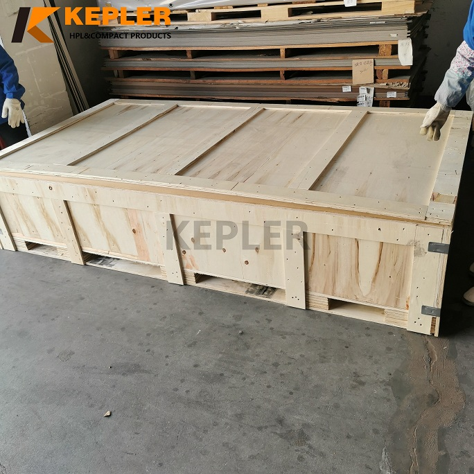 Kepler  HPL High Pressure Laminate Sheet Compact Laminate Board with Plywood Case Package