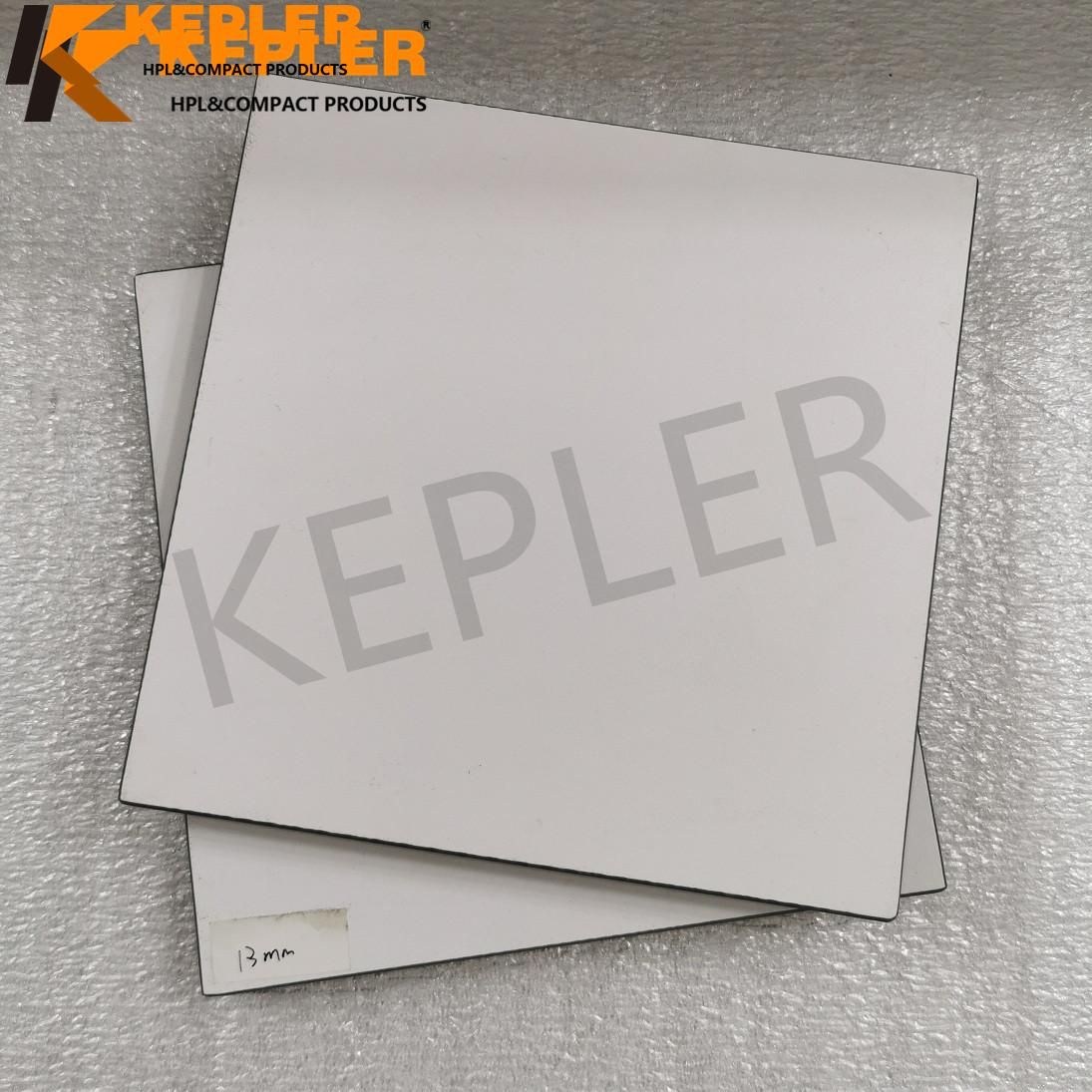 Kepler 13mm White Color HPL Compact Laminate Board