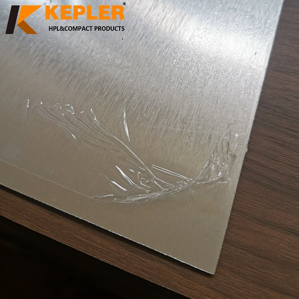 Kepler 1220*2440*0.8mm Silver Metallic Finish High Pressure Laminate Sheet